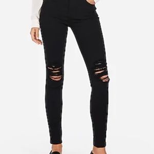 Express-Black High Rise Legging Jean